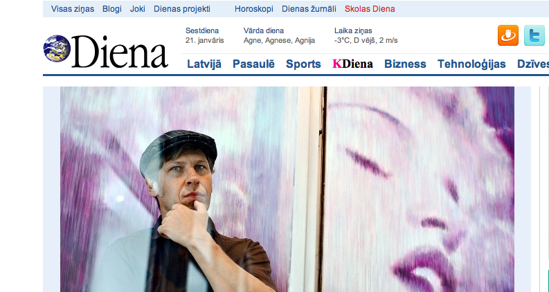 Screenshot of Diena the newspaper