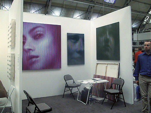 Art fair view with Ivanovs works