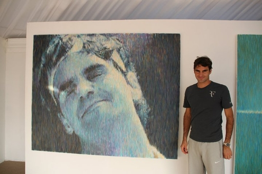 Federer painting by Ivanovs